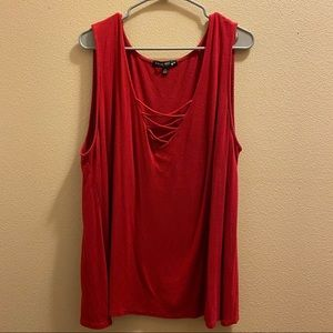 Living Doll 3X loose fit tank top